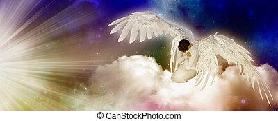 Praying angel - religious illustration