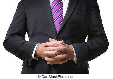 Praying business man