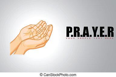 praying, hånd