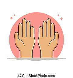 Praying Hand Symbol Vector. Pray Spirit Ramadan Illustration