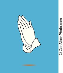 Praying Hands Icon - vector praying hands icon