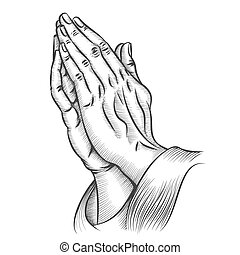 Praying hands. Religion and holy catholic or christian, ...