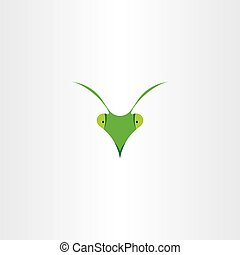 praying mantis icon vector clip art