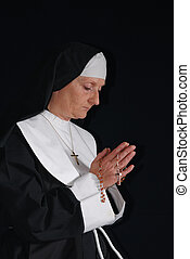 Praying nun