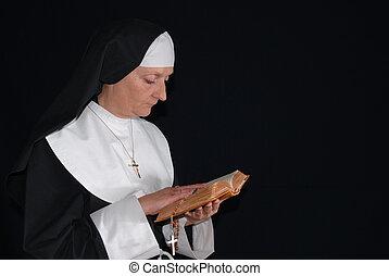 Praying nun