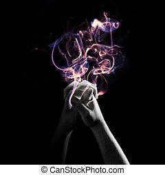 Praying with smoke