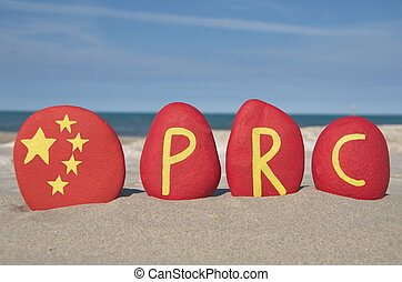 PRC, People's Republic of China on - PRC, well known symbol ...
