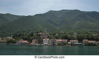 Prcanj, Montenegro The Bay of Kotor. Church of the Nativity...