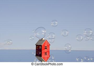 preço, bolhas, realty
