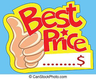 preço, melhor
