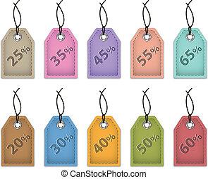 preço, venda, etiquetas