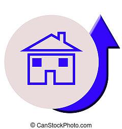 preços, casa, levantar