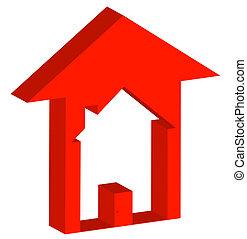 preços, habitação, mercado, levantar