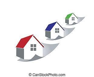 preços, lar, levantamento