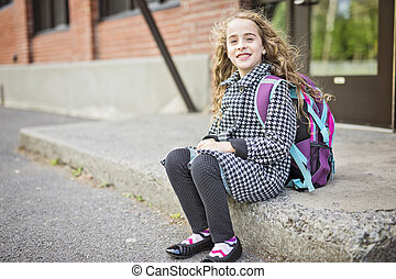 pre, 10代少女, 学校
