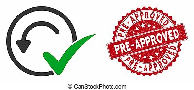 Pre-Approved Icon with Scratched Pre-Approved Seal