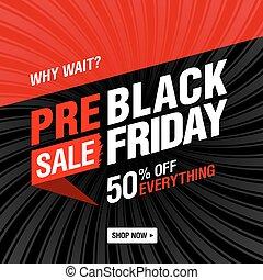 Pre black Friday Sale banner - Vector banner