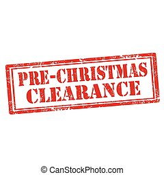 pre-christmas, clearance-stamp