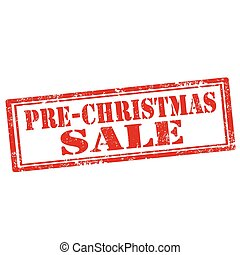 Pre-Christmas Sale-stamp - Grunge rubber stamp with text...