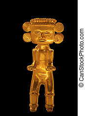 Pre-Columbian female gold figurine from Central America