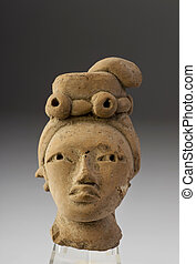 Pre Columbian Female. - Pre Columbian female head made...
