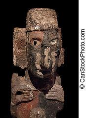Pre-Columbian Mesoamerican stone statue - Pre-Columbian art...