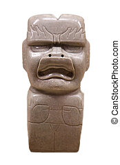 pre-columbian mexican art (man marble stutue)