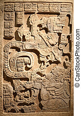 pre-columbian mexican art - Man and slave relief...