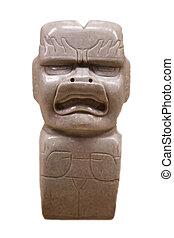 pre-columbian mexican art (man marble stutue)