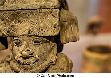 Pre-Columbian Sculpture - An ancient sculpture in Bogota,...