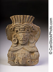Pre Columbian Warrior. - Pre Columbian double warrior made...