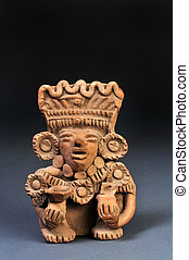 Pre-Columbian Warrior - Pre-Columbian Zapotec Warrior 600AD