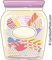 Pre Cut Fabric Jar