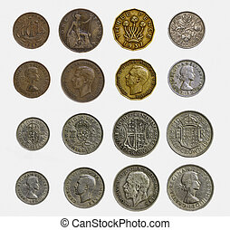 pre-decimal, コイン, 英語