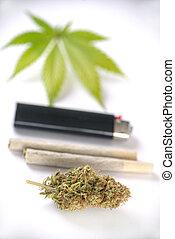 pre, folha, isolado, cannabis, nugs, branca, rolos
