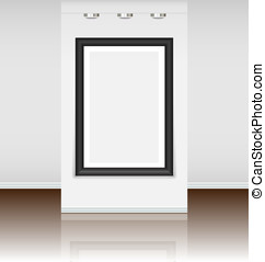 Pre-made virtual art gallery with a big frame just to instal...
