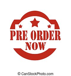 Pre Order Now-stamp