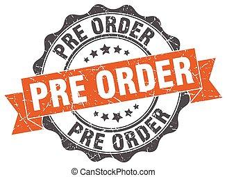 pre, order, stamp., teken., zeehondje