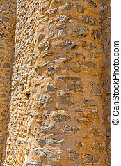 Pre-romanesque church rounded wall - Rounded wall at south...