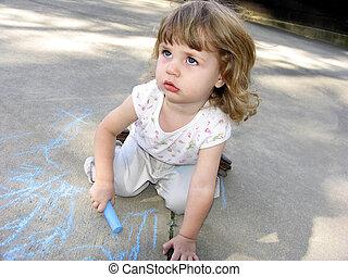 Pre-school art - Pre-school toddleractivity- drawing on the...