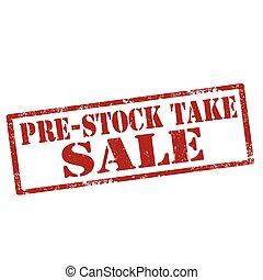 pre-stock, verkoop, nemen