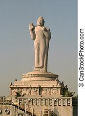 Preaching Buddha - Statue of Buddha, Hussain Sagar Lake,...
