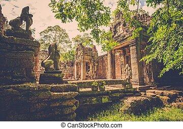 Preah Khan Temple, Angkor, Siem Reap, Cambodia.