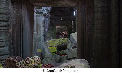 Preah Khan temple zoom  timelapse