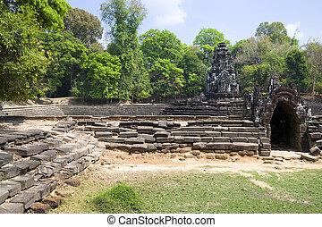 preah, neak, poan, temple, cambodge