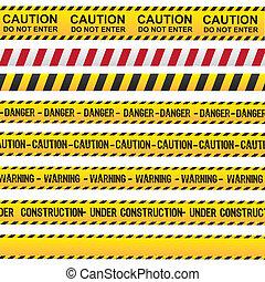 precaución, cinta, peligro