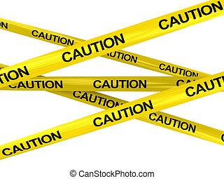 precaución, cintas