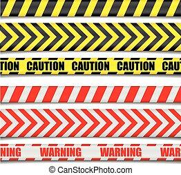 precaución, líneas