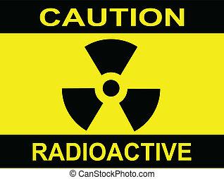precaución, radioactivo