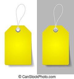 precio, amarillo, etiquetas